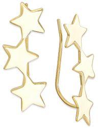 Macy's - Metallic Star Crawler Earrings In 14k Gold - Lyst