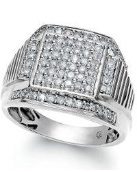 Macy's | Men's Diamond Ring In 10k White Gold (1 Ct. T.w.) for Men | Lyst