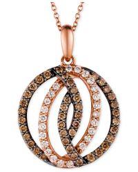 Le Vian | Multicolor Chocolatier Diamond Circle Pendant In 14k Strawberry Rose Gold (1 Ct. T.w.) | Lyst