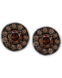 Le Vian | Metallic Chocolatier Chocolate Diamond Stud Earrings In 14k White Gold (3/4 Ct. T.w.) | Lyst