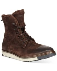 DIESEL | Brown Krepped D-boolthed Boots for Men | Lyst