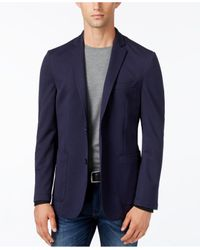 Vince Camuto | Blue Navy Mesh Air Slim-fit Blazer for Men | Lyst