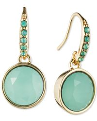 Lonna & Lilly - Blue Gold-tone Stone Earrings - Lyst