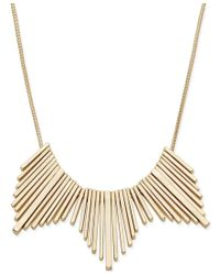 Macy's - Metallic 12k Gold-plated Small Sticks Statement Necklace - Lyst
