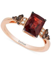 Le Vian | Pink Chocolatier® Garnet (1-2/3 Ct. T.w.) And Diamond (1/6 Ct. T.w.) Ring In 14k Rose Gold | Lyst
