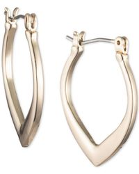 Ivanka Trump - Metallic Gold-tone Tapered Hoop Earrings - Lyst