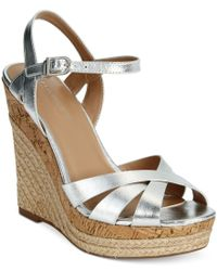 Charles by Charles David | Green Astro Wedge Sandals | Lyst