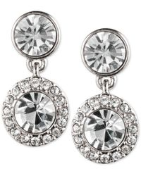Givenchy | Metallic Pave Drop Earrings | Lyst