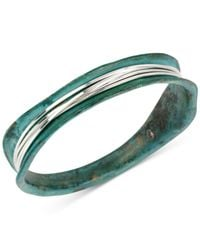 Robert Lee Morris | Blue Silver-tone Wire-wrapped Patina Bracelet | Lyst