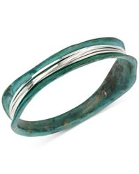 Robert Lee Morris   Blue Silver-tone Wire-wrapped Patina Bracelet   Lyst