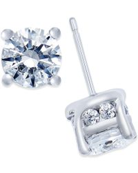 Macy's - Blue Diamond Stud Earrings (2 Ct. T.w.) In 14k White Gold - Lyst