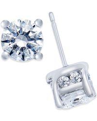 Macy's - Metallic Diamond Stud Earrings (2 Ct. T.w.) In 14k White Gold - Lyst