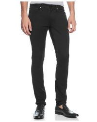 Michael Kors | Black Slim-fit Five-pocket Twill Pants for Men | Lyst