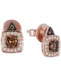 Le Vian | Multicolor Chocolatier Chocolate And White Diamond Earrings (5/8 Ct. T.w.) In 14k Rose Gold | Lyst