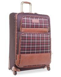 "Tommy Hilfiger | Brown Closeout! 60% Off Perfect Plaid 28"" Spinner Suitcase, Only At Macy's for Men 