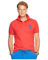 Polo Ralph Lauren | Red Men's Classic-fit Big Pony Mesh Polo Shirt for Men | Lyst