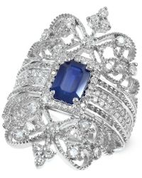 Effy Collection | Metallic Royal Bleu By Effy Sapphire (1 Ct. T.w.) And Diamond (3/4 Ct. T.w.) Ring In 14k White Gold | Lyst