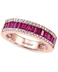Effy Collection | Pink Effy Ruby (1 Ct. T.w.) And Diamond (1/5 Ct. T.w.) Ring In 14k Rose Gold | Lyst