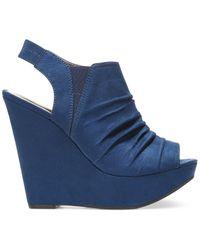 Carlos By Carlos Santana | Blue Britton Platform Wedge Sandals | Lyst