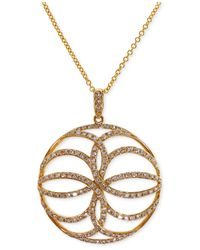 Effy Collection | Metallic Effy Diamond Circle Pendant Necklace (5/8 Ct. T.w.) In 14k Gold | Lyst