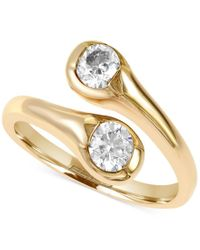 Effy Collection - Metallic Effy D'oro Diamond Bypass Ring (5/8 Ct. T.w.) In 14k Gold - Lyst