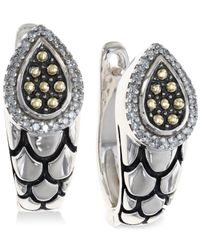 Effy Collection - Metallic Diamond Scale Hoop Earrings (1/5 Ct. T.w.) In 18k Gold And Sterling Silver - Lyst