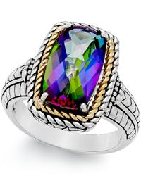Macy's - Metallic Mystic Quartz (4-1/4 Ct. T.w.) Ring In Sterling Silver And 14k Gold - Lyst