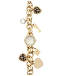 Style & Co. - Metallic . Women's Gold-tone Iron Charm Bracelet Watch 24mm Sy019g - Only At Macy's - Lyst