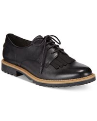 Clarks | Black Somerset Women's Griffin Mabel Oxford Flats | Lyst