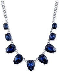 2028 | Silver-tone Blue Crystal Collar Necklace, A Macy's Exclusive Style | Lyst