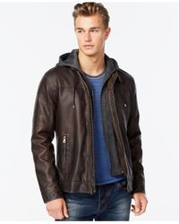 INC International Concepts | Brown Hooded Jacket for Men | Lyst