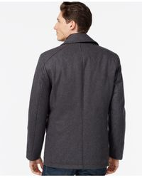 INC International Concepts - Gray Double-breasted Peacoat for Men - Lyst