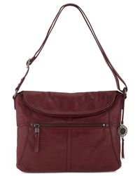 The Sak | Red Leather Esperato Flap Hobo | Lyst