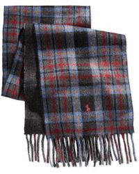 Polo Ralph Lauren | Blue Brownstone Reversible Plaid Scarf for Men | Lyst