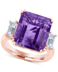 Effy Collection | Purple Effy Amethyst (6-5/8 Ct. T.w.) And White Topaz (1 Ct. T.w.) Ring In 14k Rose Gold | Lyst