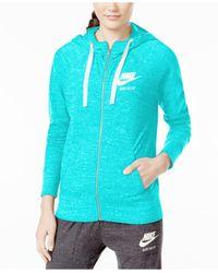Nike - Blue Gym Vintage Full-zip Hoodie - Lyst