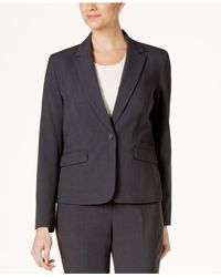 Nine West - Gray One-button Notch-collar Jacket - Lyst