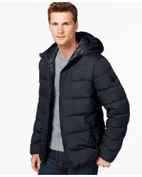 Michael Kors | Blue Michael Down Jacket for Men | Lyst