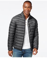 INC International Concepts - Gray Solid Down Packable Jacket for Men - Lyst
