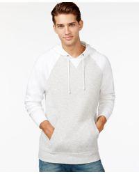 American Rag | White Men's Raglan Fleece Hoodie, Only At Macy's for Men | Lyst