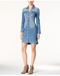 INC International Concepts | Blue Denim Shirtdress, Only At Macy's | Lyst