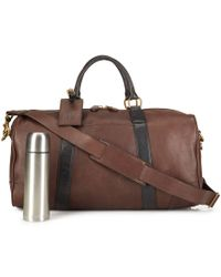 Polo Ralph Lauren   Brown Two-toned Leather Duffel Bag for Men   Lyst
