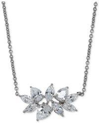 Arabella | Metallic Swarovski Zirconia Pendant Necklace In Sterling Silver | Lyst