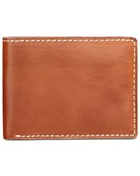 Patricia Nash | Brown Nash Men's Heritage Leather Double Billfold Id Wallet | Lyst