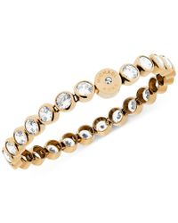 Michael Kors - Metallic Clear Crystal Bezel Set Tennis Bracelet - Lyst