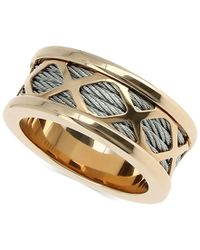 Charriol | Metallic Womens Two-tone Multi-x Cable Ring | Lyst