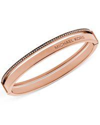 Michael Kors | Multicolor Crystal Split Bangle Bracelet | Lyst