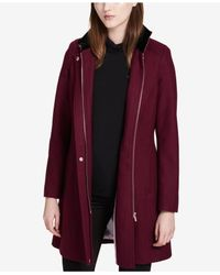 CALVIN KLEIN 205W39NYC - Red Buckled Stand-collar Walker Coat - Lyst