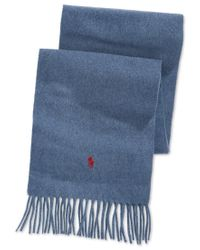 Polo Ralph Lauren | Blue Cashmere Blend Scarf for Men | Lyst
