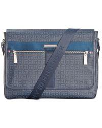 Tommy Hilfiger | Blue Darren Flap Messenger Bag for Men | Lyst